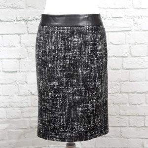 Banana Republic skirt faux leather waistband